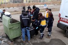 Sivas'ta çöp konteynerinde vahşet çıktı!