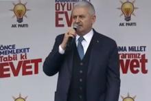 Başbakan ilk referandum mitingine Kahramankazan'da başladı