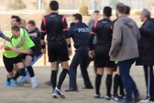 Isparta'da maç sonrası hakeme saldırı