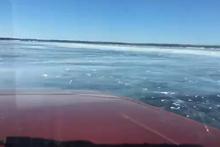 Buzda yolculuk kötü bitti