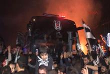 Beşiktaş'a tesislerde coşkulu karşılama