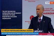 Devlet Bahçeli Elazığ'da ilk 'Evet' mitingine çıktı