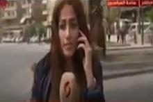 Esed'in televizyonunda canlı yayında bomba sesleri