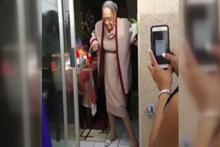 100 yaşındaki büyükanneden çılgın dans