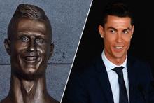 Ronaldo büstü sosyal medyayı salladı