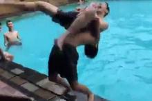 Havuzda korkunç kaza