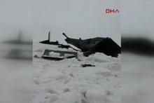 Tunceli'de helikopter düştü yeni görüntüler