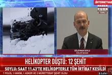 Süleyman Soylu'dan helikopter kazasına ilişkin açıklama