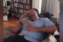 Uykuya yenik düşen taze babanın dramı
