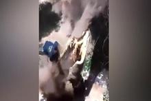 Kestiği ağacın gazabına uğradı