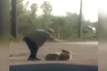 Sakarya'da köpeğe işkence! Skandal görüntüler