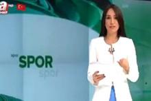 A Haber spikeri Duygu Leloğlu basketbol haberini sunarken rezil oldu
