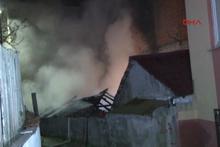 Sarıyer'de gecekondu yangını yaşlı çifti ayırdı