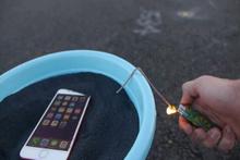 iPhone 7 barut içerisinde patlatıldı