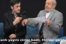 Türk televizyonlarında bir ilk! Canlı yayını cinler bastı