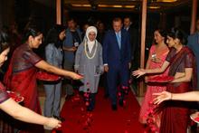 Cumhurbaşkanı Erdoğan Hindistan'da böyle karşılandı!