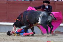 Çılgın boğa, matadorun boğazını boynuz darbesiyle deldi