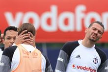 Beşiktaş idmanında gergin anlar