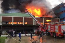 Trabzon'da sanayi sitesinde yangın