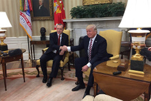 Beyaz Saray'da görüşen Erdoğan ve Trump'tan ilk açıklama