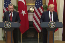 Trump'tan basın toplantısında terörle mücadele vurgusu