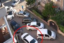 Ters yöne girdi karşısına araç çıkınca bakın ne yaptı!