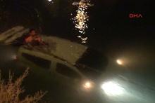 Ayrılmak isteyen kız arkadaşının aracını sulama kanalına attı