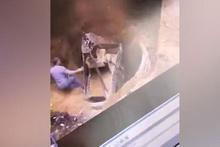 İki işçi toprağa gömüldü! Foseptik böyle çöktü