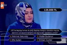 Kim Milyoner Olmak İster'de Beşiktaş sorusu merak uyandırdı