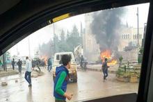 Azez merkezinde bombalı saldırı