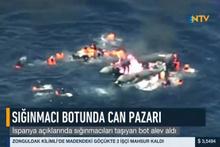 İspanya açıklarında sığınmacıları taşıyan bot alev aldı