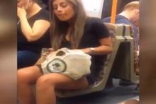Metroda büyük iğrençlik!
