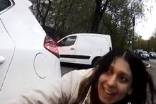 Sürücünün  otopark fişi ile imtihanı!