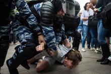 Rusya'da hükümet  karşıtı gösteri