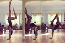Naomi Campbell'in yoga videosu