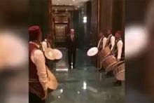 Cumhurbaşkanı Erdoğan'a sürpriz karşılama