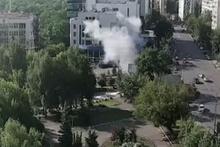 Kiev'deki patlama güvenlik kamerasında