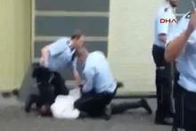 Alman polisinin Türk aileye uyguladığı şiddet güvenlik kamerasında
