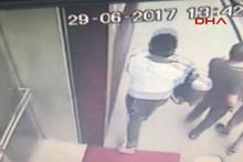 Soyguncu para dolu çanta ile kaçarken güvenlik kamerasına yakalandı