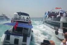 Beşiktaşlıların teknede geçirdiği kazanın görüntüleri