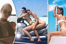 Mikonos tatilcileri Kendall Jenner ve Bella Hadid