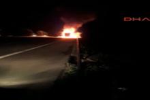 TEM Otoyolu'nda TIR faciası: 2 kişi yanarak öldü