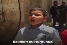 Kudüslü çocuk Yahudilere haykırdı!
