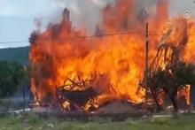 Ev yangınına helikopterli müdahale