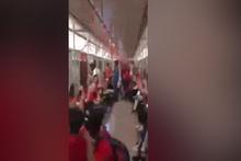 Metroda 'Tayyip Erdoğan' tezahüratı sosyal medyayı salladı!