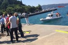 Sarıyer'de bir otomobil denize uçtu