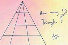 Sosyal medya bunu konuşuyor resimde kaç üçgen var?