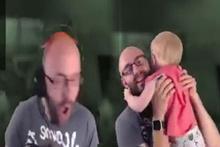 Korku oyunu oynayan babasını böyle trolledi