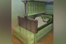Uyku esnasında depremden koruyan yatak!