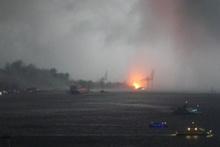 Haydarpaşa'da patlama anı böyle görüntülendi
